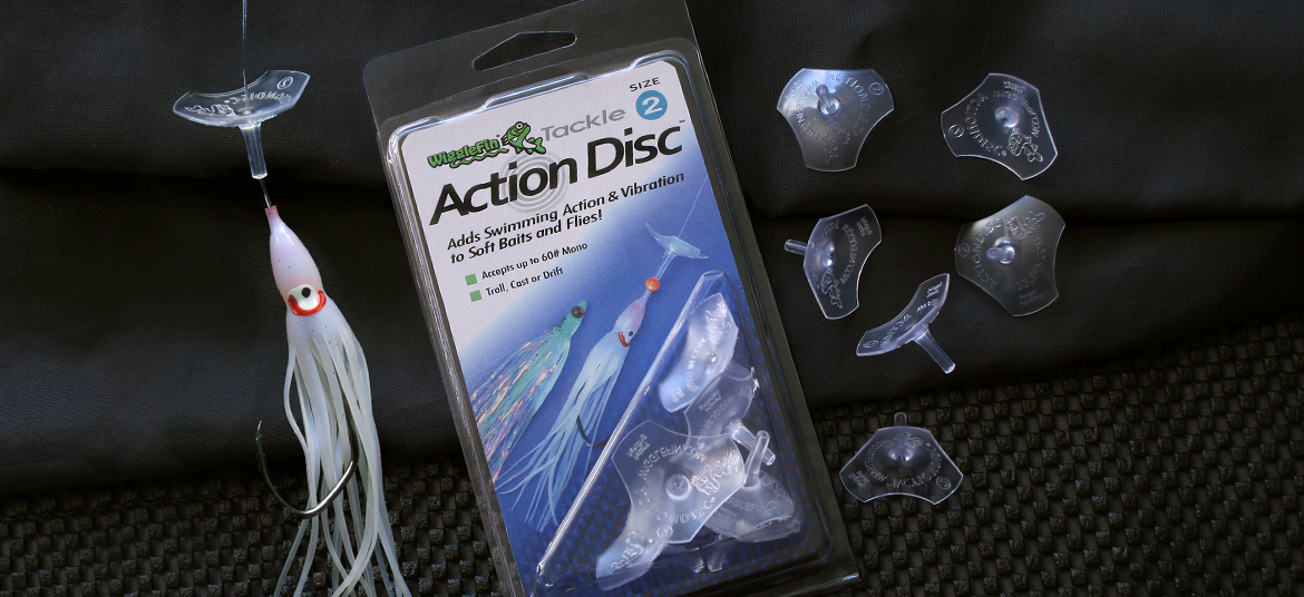 ActionDiscs for salmon trolling flies